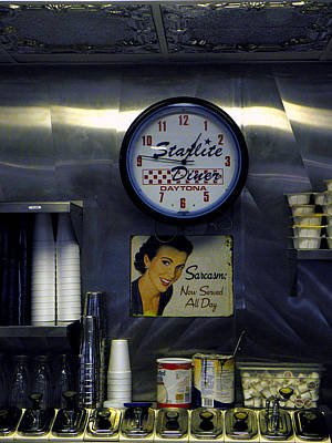 Photograph - Starlight Diner Cafe Wall  by Chris Mercer