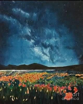 Nightsky Painting - Starlight by Madhurima Nag