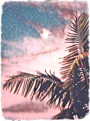 Starlight Palm Art Print