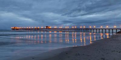 Oceanside Pier Photograph - Starlight Pier by Peter Tellone