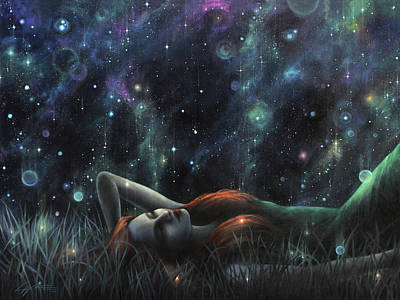 Mixed Media - Starlight Serenade by Lucy West