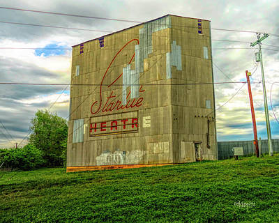 Photograph - Starlite Drive In Theatre, Brenham Tx by Rebecca Korpita