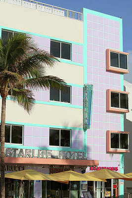 Photograph - Starlite Hotel - Miami Beach by Art Block Collections