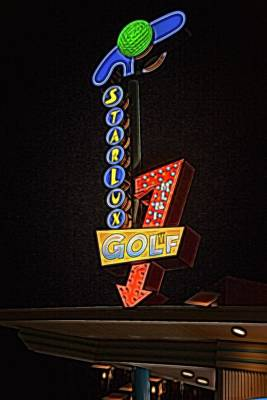 Photograph - Starlux Miniature Golf by Kristia Adams
