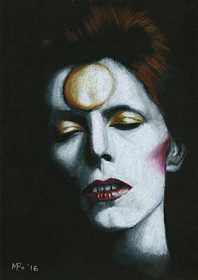 Ziggy Stardust Drawing - Starman by Mariana Po