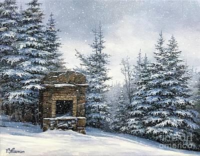 Starr King Stone Fireplace Original by Varvara Harmon