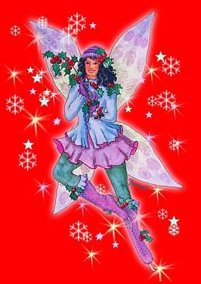 Matanuska Painting - Starr Lynn Holliday Fairy by Teresa Ascone