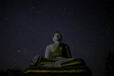 Thailand Photograph - Starr Sky And Buddha by David Longstreath