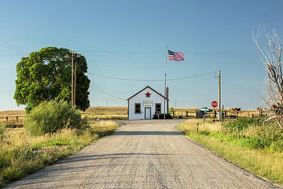 Gravel Road Photograph - Starr Valley Community Hall by Todd Klassy