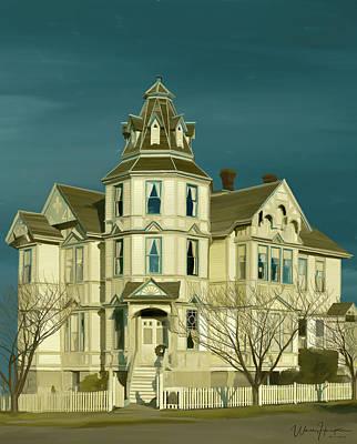 Painting - Starrett House  Port Townsend  Wa by Wally Hampton