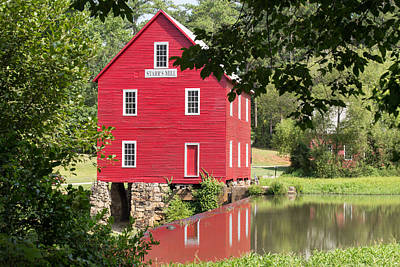Photograph - Starr's Mill Reflection by Sally Simon