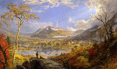 Jasper Cropsey Painting - Starrucca Viaduct Pennsylvania by Jasper Francis Cropsey