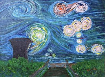 Painting - Starry Beach by Mike Jenkins