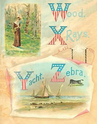 Starry Flag Abc W To Z Original
