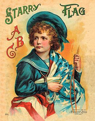Painting - Starry Flag Cover Abc Book by Reynold Jay