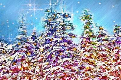 Photograph - Starry Forest by Jean OKeeffe Macro Abundance Art