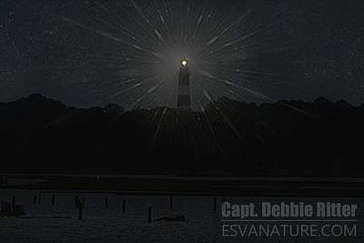 Photograph - Starry Lighthouse 2 by Captain Debbie Ritter