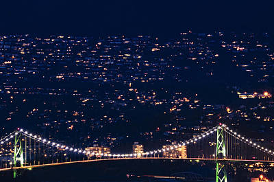 Photograph - Starry Lions Gate Bridge - Mdxxxii By Amyn Nasser by Amyn Nasser