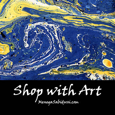 Painting - Tote Bag Starry Night Abstract - Shop With Art by Menega Sabidussi