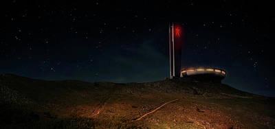 Photograph - Starry Night At Buzludzha by Jaroslaw Blaminsky