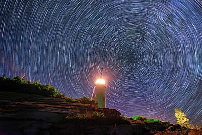 Photograph - Starry Night At Pemaquid Point by Rick Berk