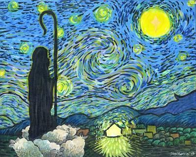 Painting - Starry Night Bethlehem by Jim Harris