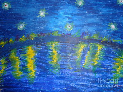 Painting - Starry Night by Chitra Helkar