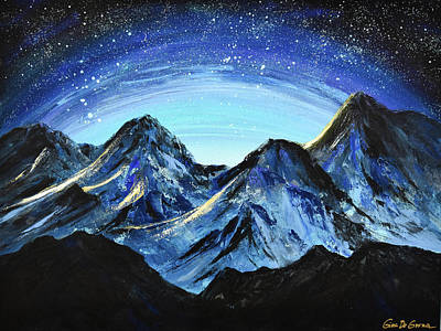 Painting - Starry Night by Gina De Gorna
