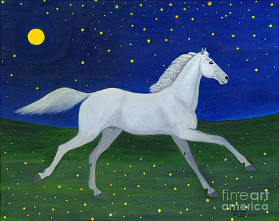 Folkartanna Painting - Starry Night In August by Anna Folkartanna Maciejewska-Dyba