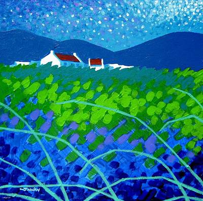 Curtains Painting - Starry Night In Wicklow by John  Nolan