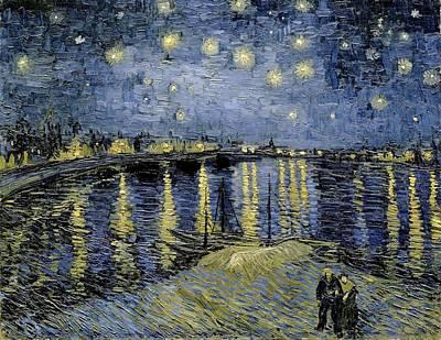 Painting - Starry Night La Nuit Etoilee by Artistic Panda