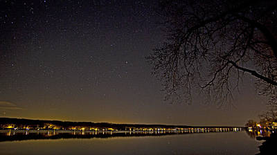 Photograph - Starry Night On Conesus Lake by Richard Engelbrecht