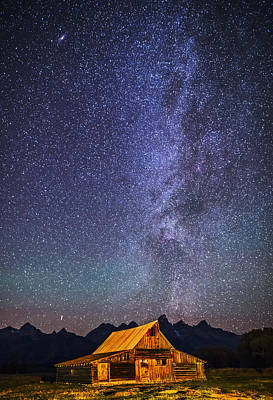 Photograph - Starry Night Over Mormon Row Barn Gtnp by Vishwanath Bhat