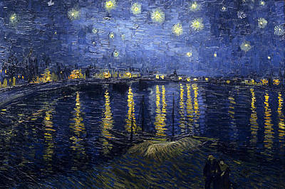 Art Print featuring the painting Starry Night Over The Rhone by Vincent Van Gogh