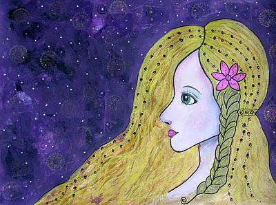 Drawing - Starry Night by Riana Van Staden