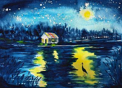 Made In Usa Painting - Starry Night by Sharon Mick