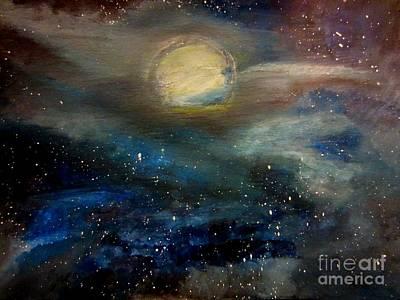 Impressionism Painting - Starry Night Sky by Stephanie Zelaya
