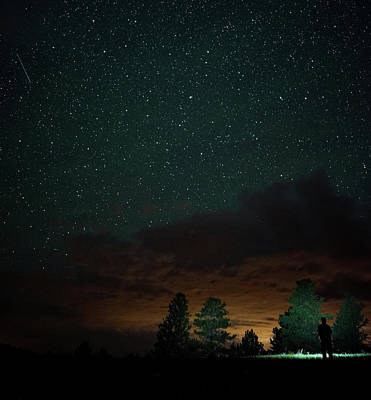 Photograph - Starry Night With Clouds by Bill Gabbert