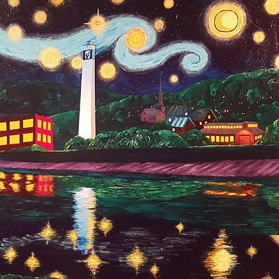 Painting - Starry Night With Little Joe by Tom Tunnicliff