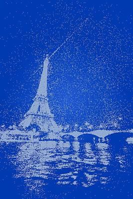 Paris Painting - Starry Paris 2 by Celestial Images