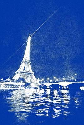 Paris Painting - Starry Paris 3 by Celestial Images