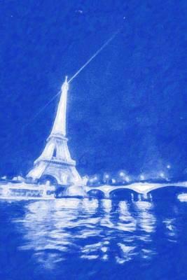 Paris Painting - Starry Paris 4 by Celestial Images