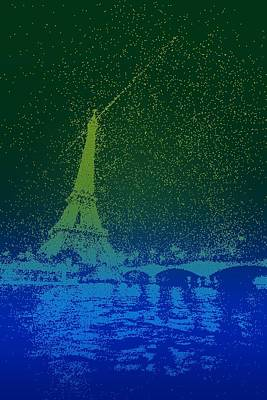 Paris Painting - Starry Paris by Celestial Images