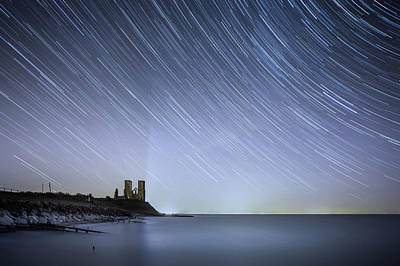 Startrails Photograph - Starry Reculver by Ian Hufton