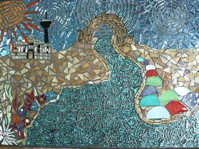 Starry Riverwalk Art Print by Ann Salas