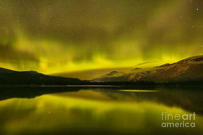 Photograph - Starry Skies And Aurora Borealis by Adam Jewell