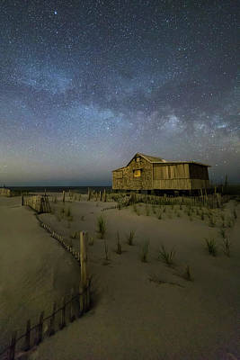 Starry Skies And Milky Way At Nj Shore Art Print by Susan Candelario