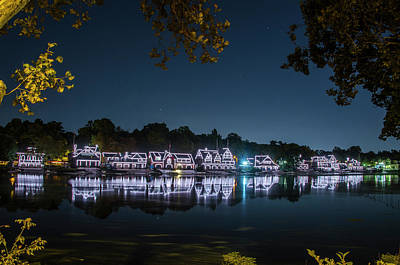 Boathouse Row Digital Art - Starry Skies Over Boathouse Row by Bill Cannon
