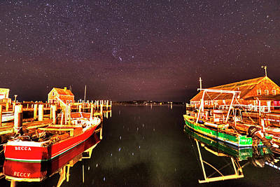 Photograph - Starry Skies Over Edgartown Ma Cape Cod by Toby McGuire