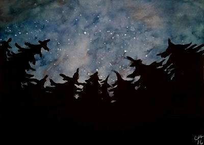 Drawing - Starry Sky by Carole Hutchison